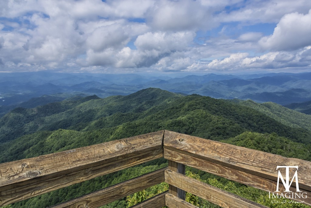 The view from Wesser Bald Lookout Tower