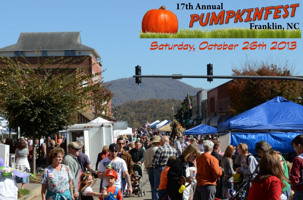 Join us downtown Franklin, NC for Pumpkinfest 2013!