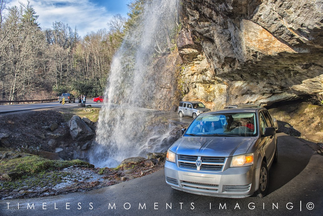 Bridal Veil Falls, Highway 64 - Macon County, NC