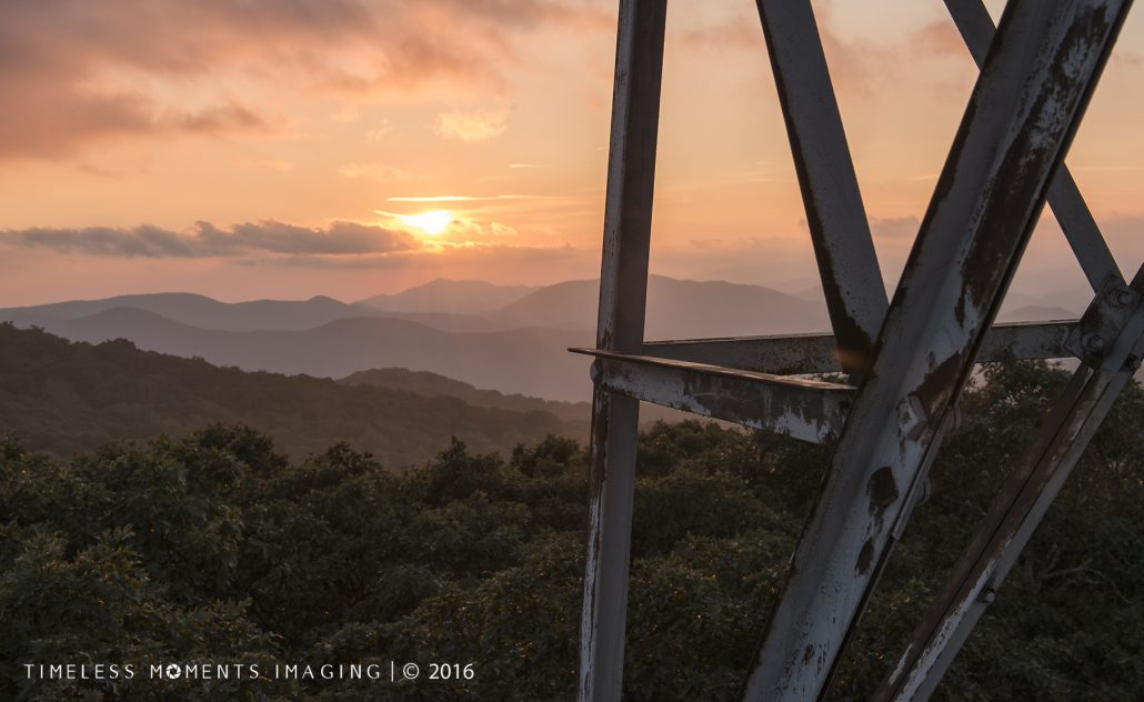 The magic of the setting sun from Albert Mountain Tower - Franklin, NC