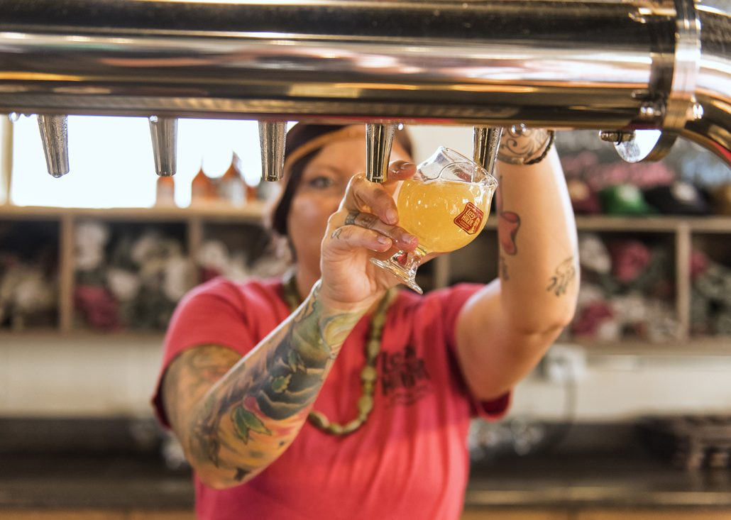 The Tap Room is a great place to sit down and enjoy a seasonal craft beer